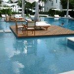 walking around pool