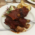 BBQ Beef ribs and wedges.