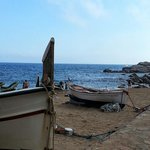 Boats on the Gran Platja of Tossa
