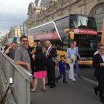 Bus delivery to river cruise with Francois on right of pic