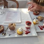 Dessert selection on river cruise