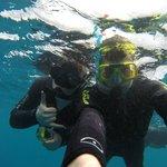 Students snorkelin