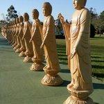 Estátuas no patio