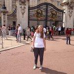 Lara outside the gates