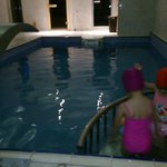 The swimming pool with a small corner for kids, second basement floor a high humid place
