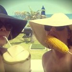 Our tasty lunchtime ritual, BBQ corn & coconuts