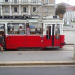 A Vienna tram - great for getting around
