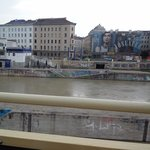 Danube Canal from the red bus tour