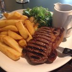 Steak and chips. Delish