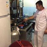 chef at work - freshly prepared
