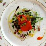 Paprika med tonfiskkräm.