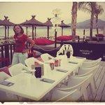 Cena en la playa