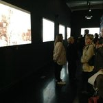 Films about the Orient Express in the exhibition room
