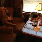 Luxury inside the carriages