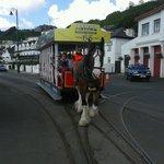 Horse tramway.