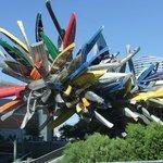 Amazing sculpture outside