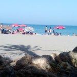 Playa de arena fina, muy limpia