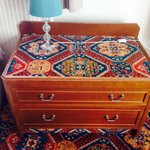 Carpeted seventies scruffy furniture!!