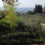 La vista di Firenze dal terrazzo