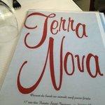 Menu from the Italian restaurant Terra Nova, in Paris