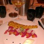 rosace de saumon norvegien label rouge fumé crème légère au raifort