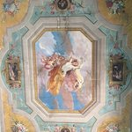 "Original ""fresco"" ceiling of our room"