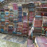 stairs made of books outside