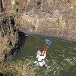 Ziplining across the Zambezi River