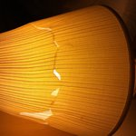 One of 2 broken lampshades in the room
