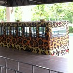 free tram service from hotel lobby to safari park and water park