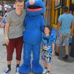 Alex and Rhys with Grover.