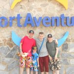 The boys at PortAventura.