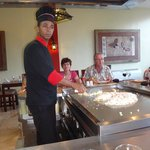 The Japanese reataurant where the not only cook for you,but entertain you