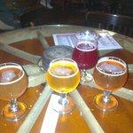 3 bières dégustation, et 1 Kriek