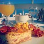Breakfast on Hotel Regina's balcony
