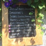 smoothies menu