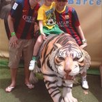 Alex, Ciaran and Rhys at Barcelona Zoo.