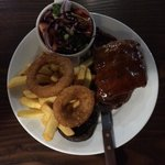 Ribs and steak lovely £11.95