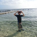 Snorkelling on the beach