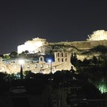 View of the Akropolis from the roof garden