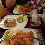 Deep Fried Shrimps & Fried Rice
