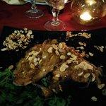 Spada alle mandorle, cipolle e crema di aceto balsamico