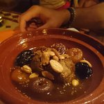 Beautiful lamb tagine with apricots and dates