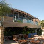 Elements restaurant overlooking pool