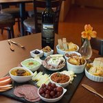 Large Board - wild Boar, Lamb summer sausage, eye of round, chorizo amazing cheeses and fruits