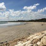 Beach looking towards Legian