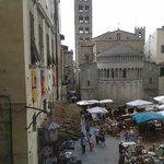 Visuale dalle camere su piazza Maggiore