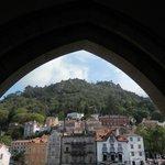 vista del castillo mouros desde palacio nacional
