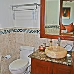 Large marble bathrooms