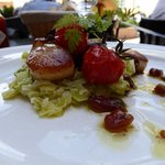 Scallops with a leek fondue